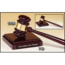 5120 Rosewood Piano Finish Gavel with Sounding Block